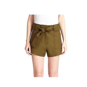 10 Crosby Derek Lam Cuffed Shorts Green/Olive