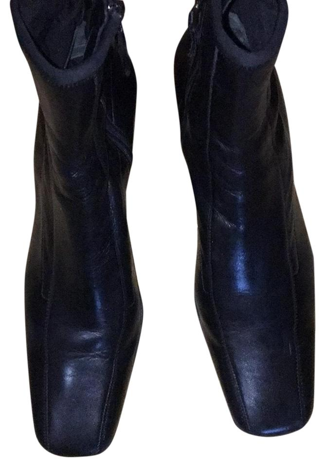 497d379393af Prada Black Ankle Boots Booties Size EU 35.5 (Approx. US 5.5 ...