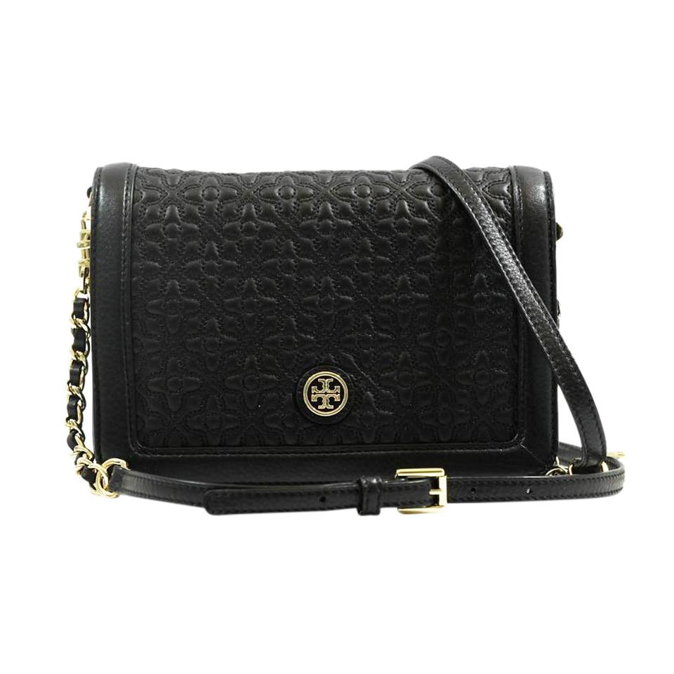 49fda1e3ed26d Tory Burch Bryant Quilted Black Leather Cross Body Bag - Tradesy