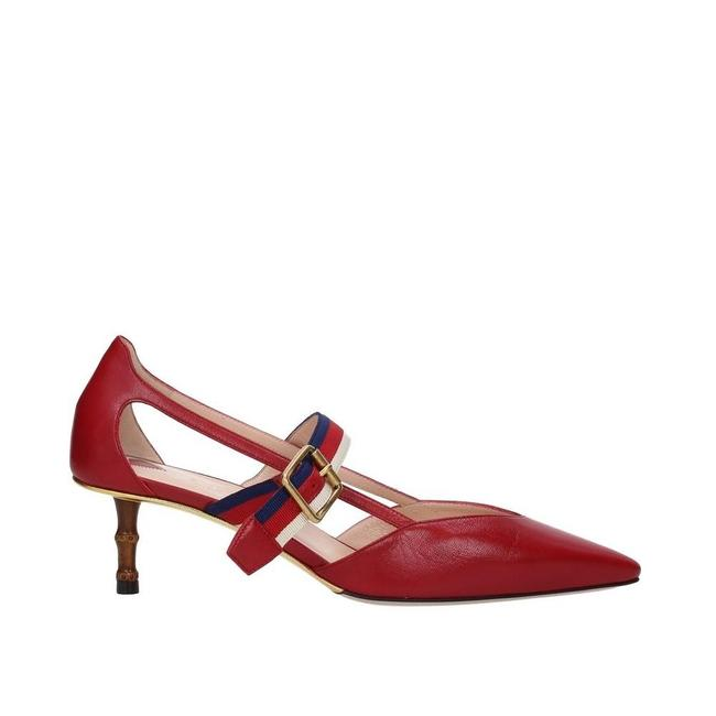 Item - Red Leather Sandals Size EU 38.5 (Approx. US 8.5) Regular (M, B)