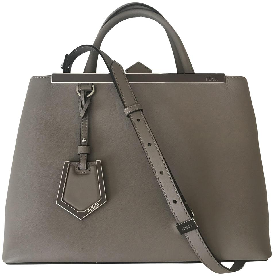 0c49b4eda03a Fendi Leather Crossbody Shoulder Satchel in Dove gray taupe Image 0 ...