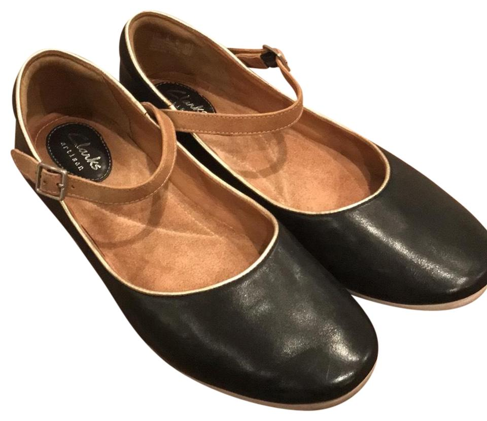 6f614ba49f47 Clarks Black Mary Jane Flats. Size  US 9 Regular (M ...