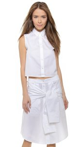 Rag & Bone Crop Cotton Top White