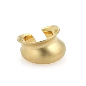 Tiffany & Co. Gehry 18k Yellow Gold Contour Cuff Band Ring