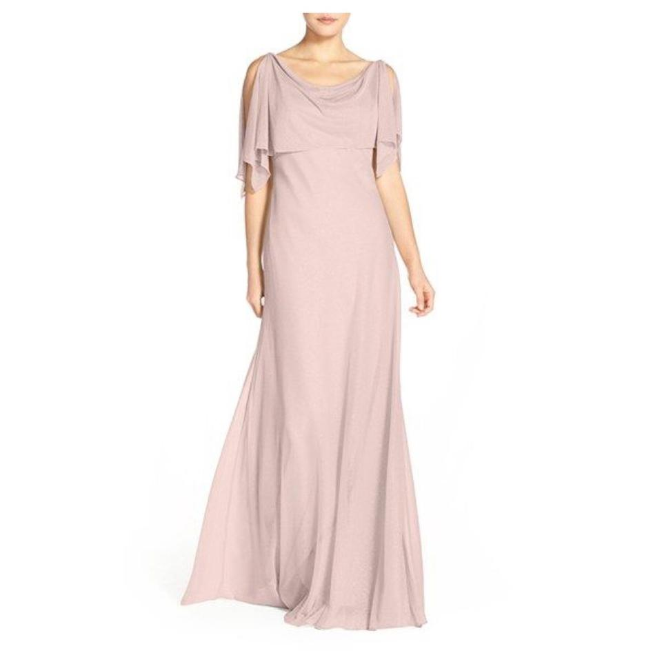 fa406bda9fe4 Jenny Yoo Blush Devon Glitter Knit Gown Feminine Bridesmaid/Mob Dress