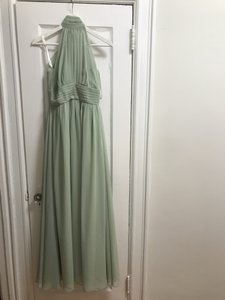 Azazie Dusty Sage Green Chiffon Iman Feminine Bridesmaid/Mob Dress Size 4 (S)