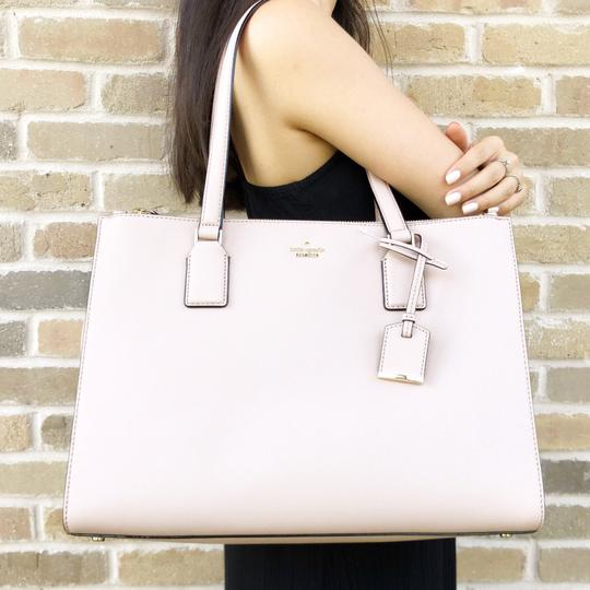 Kate Spade Cameron Street Leather Satchel Tote in Tan Image 1