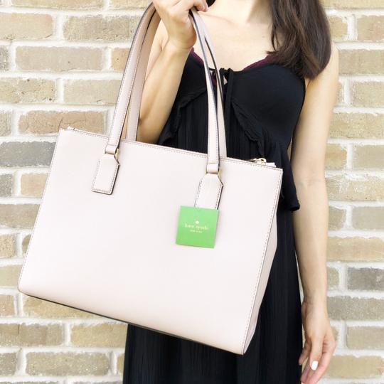Kate Spade Cameron Street Leather Satchel Tote in Tan Image 3