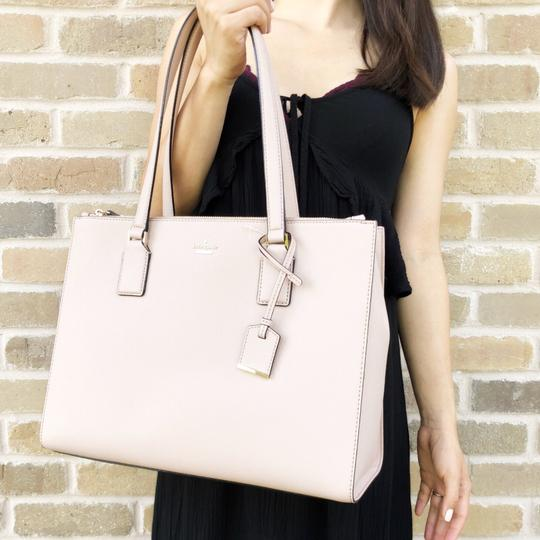 Kate Spade Cameron Street Leather Satchel Tote in Tan Image 4