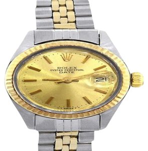 Rolex Two Tone 6917 Date Champagne Dial Ladies Watch