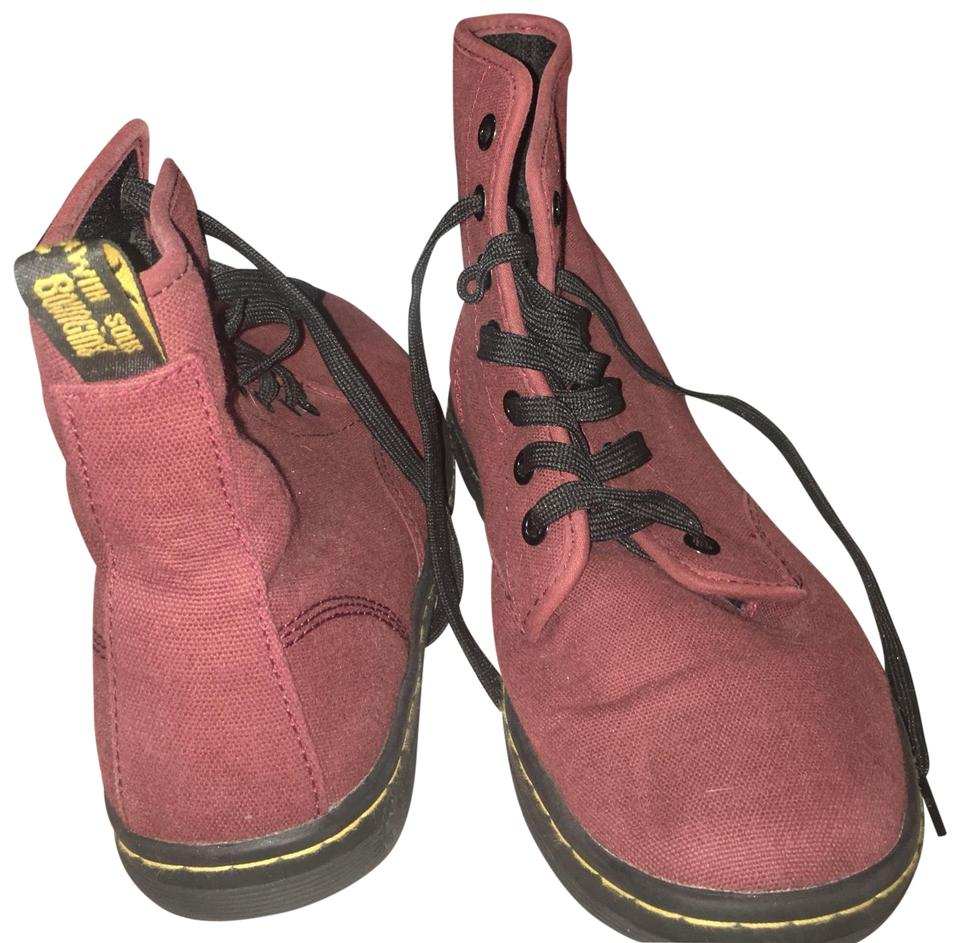 women New Dr. Martens Burgundy Boots/Booties New women design 114968