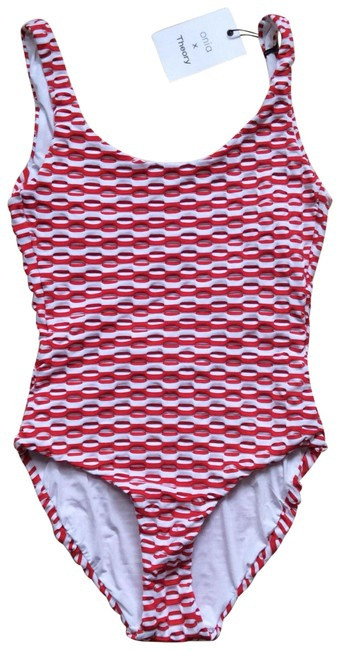 Item - Red White And One-piece Bathing Suit Size 4 (S)