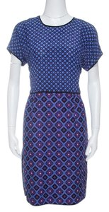 Victoria, Victoria Beckham short dress Purple and Blue on Tradesy