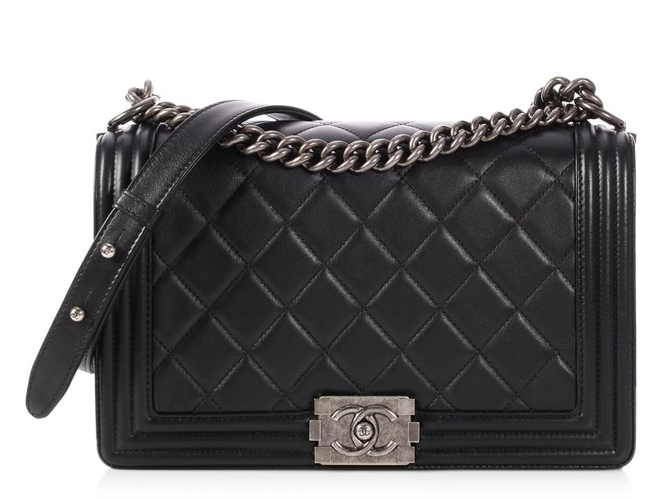 Chanel Ch P0727 08 Ruthenium Cc Quilted Reduced Price Cross Body Bag