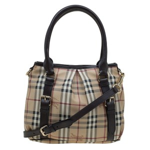 Burberry Purse Handbag Haymarket Tote in Black