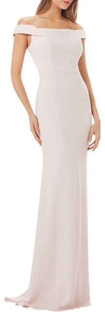 Item - Blush Infusion Off-the-shoulder Crepe Gown Long Formal Dress Size 6 (S)