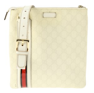 Gucci Cream Gg Canvas Beige Messenger Bag