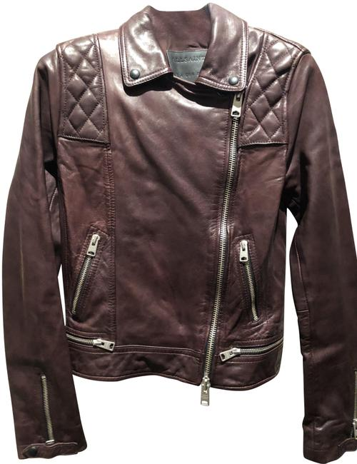 Item - Oxblood Quilted Jacket Size 0 (XS)