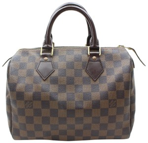 Louis Vuitton Damier Speedy Ebene Speedy Checker Speedy Damier Alma Speedy 30 Satchel in Brown