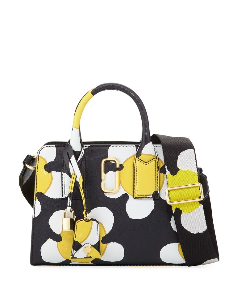 9a5865647582 Marc Jacobs Little Big Shot Saffiano Leather Black Yellow Satchel Shoulder  Satchel in Yellow ...