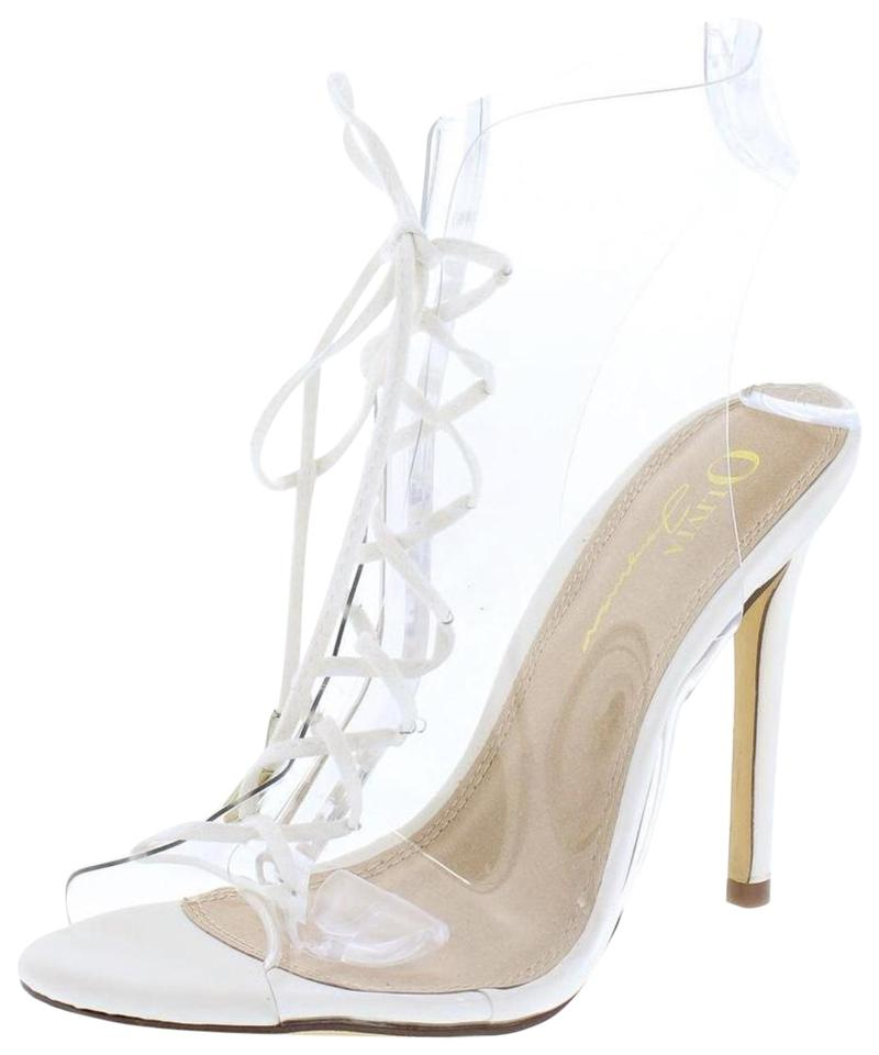 c37d87f6b19 Clear White Boots/Booties