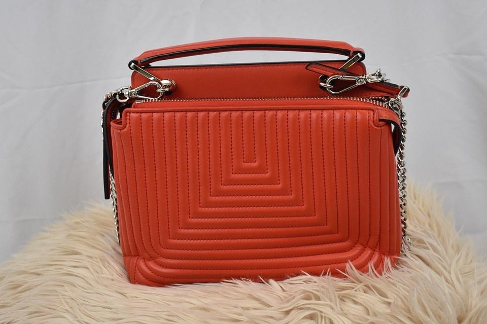 135a18e2 Fendi Dotcom Small Poppy Quilted Red Lambskin Leather Cross Body Bag 54%  off retail