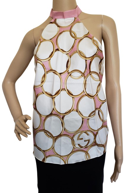 Item - Pink Multicolor Gg Print Halter Top Size OS (one size)
