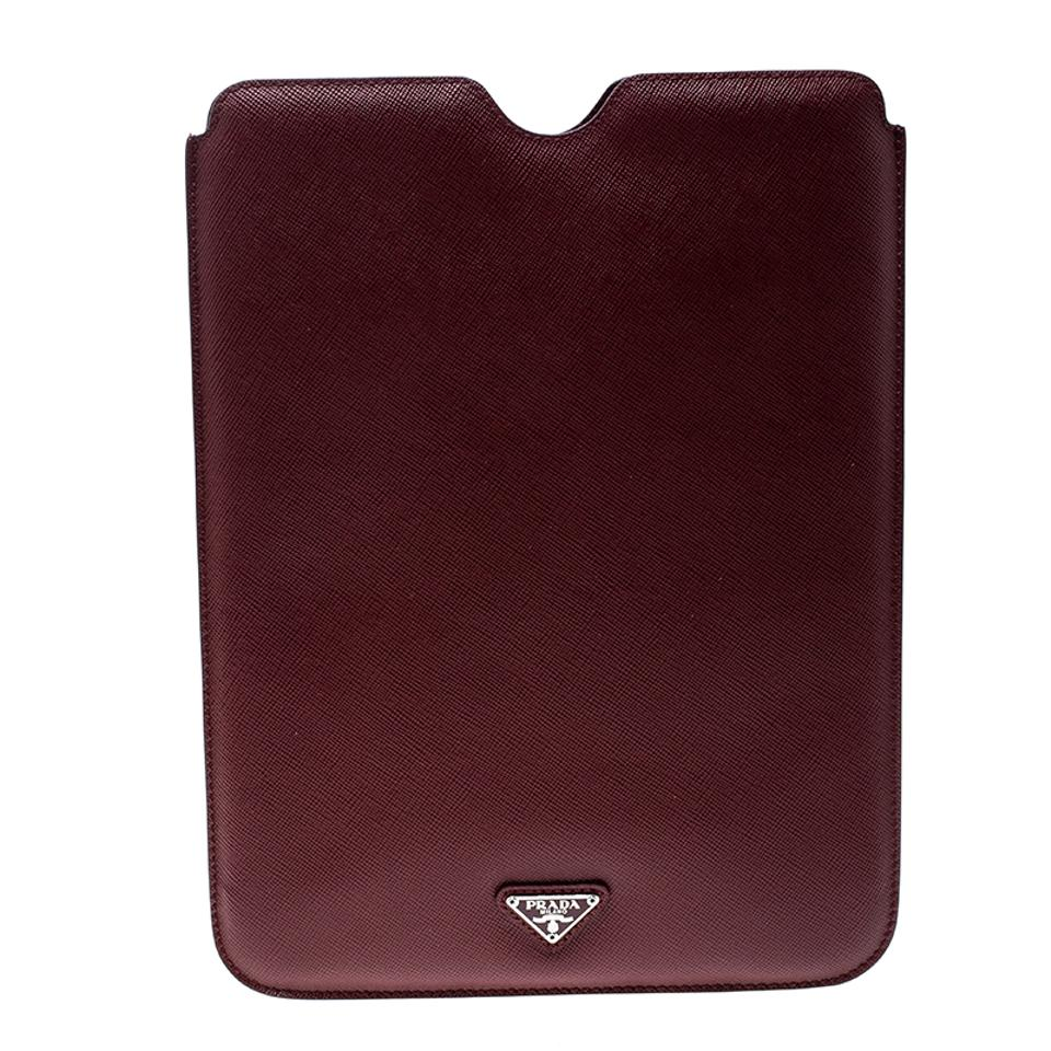 711d7b428259 Prada Red Saffiano Leather Ipad Case Tech Accessory - Tradesy