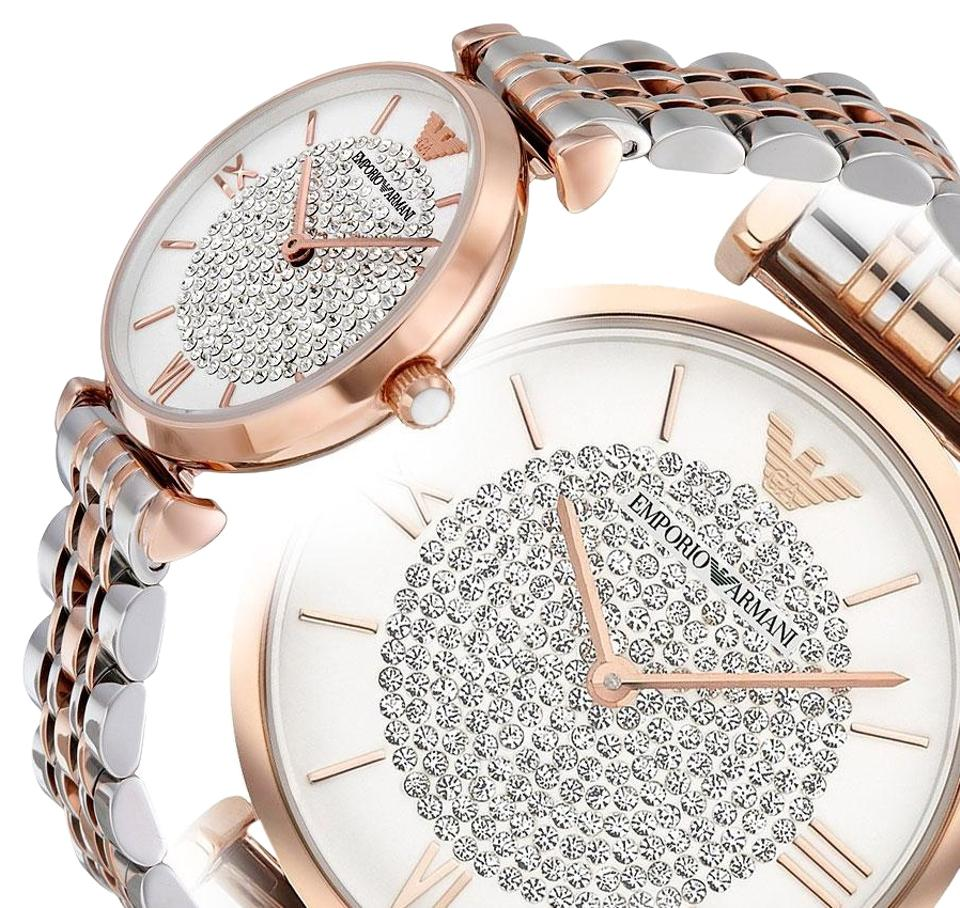 87923ceab39 Emporio Armani Silver Rose Gold And Women s Ar1926 Watch - Tradesy