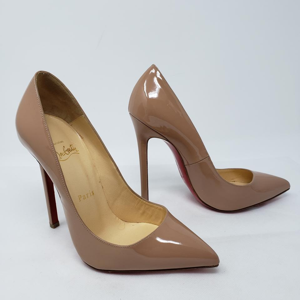 Christian Louboutin Beige Nude Patent Leather So Kate Pointed-toe Pumps