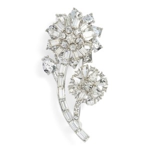Kate Spade NEW Trellis Blooms Small Crystal Flower Brooch Pin