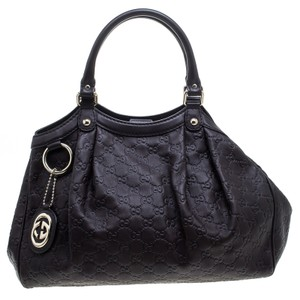 Gucci Leather Tote in Brown
