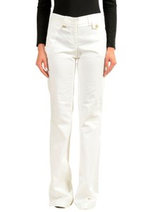 Versace Jeans Collection Wide Leg Pants White
