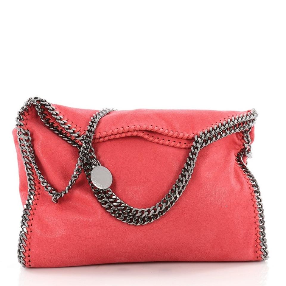 1b09d808d8 Stella McCartney Falabella Fold Over Dark Coral Shaggy Deer Tote ...