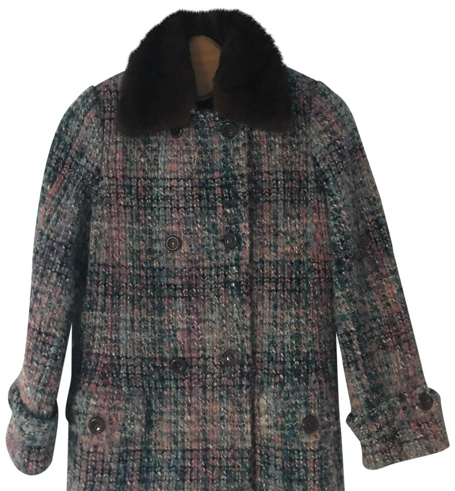 Missoni Multicolor Knit W Mink 42 Coat Size 8 (M) - Tradesy 97c4b081c