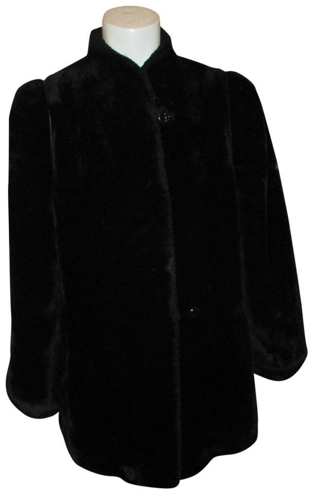 21ea29db1614c Black Vintage Faux Coat