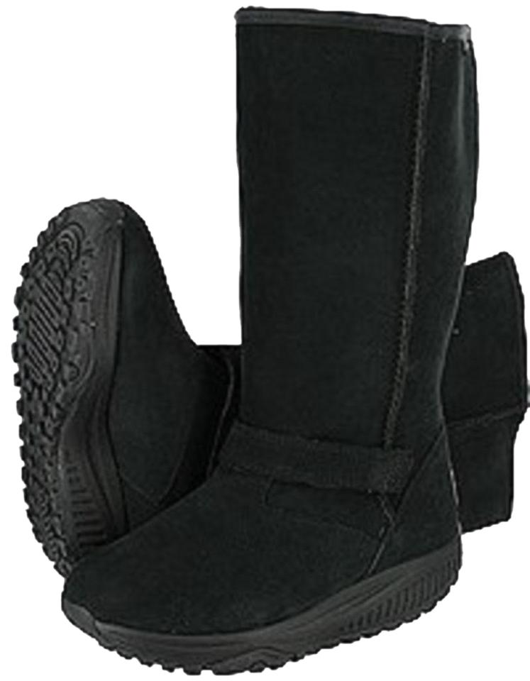 skechers shape ups boots black