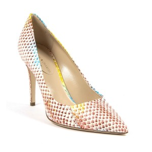 Andrew Charles B2b-8055273058267 White Brown Blue Yellow Pumps