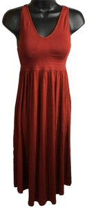 red Maxi Dress by Gilligan & Omalley J-06 Xs