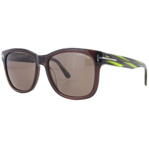 0674b96e17a Tom Ford Square Unisex FT0395 48J plastic Brown Lens Sunglasses
