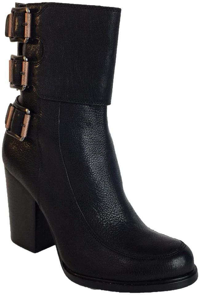 Calvin Leather Klein Black New Fashion Leather Calvin Boots/Booties f8eeec