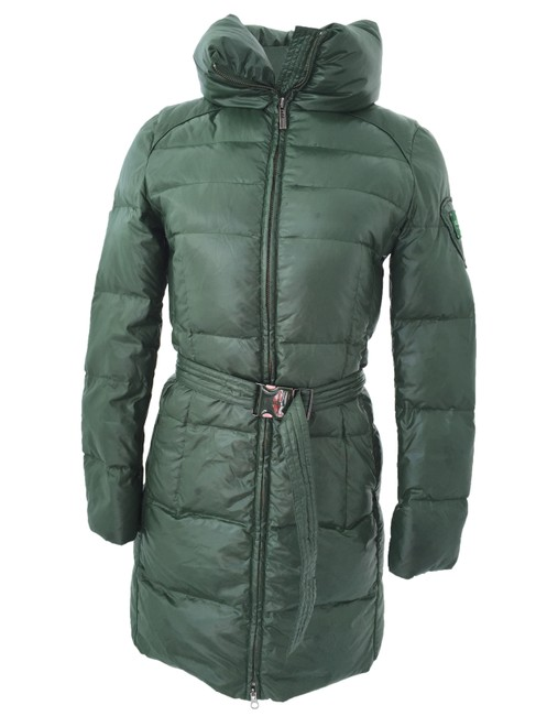 Item - Green Belted Puffer Coat Size 2 (XS)
