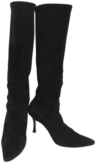 Item - Brown Stretch Suede Boots/Booties Size EU 37 (Approx. US 7) Regular (M, B)