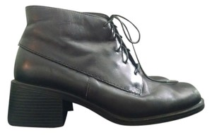 Hush Puppies Lace Up Combat Leather Loafer black Boots