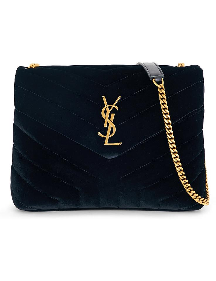 fb373f8e53 Saint Laurent Monogram Loulou Small Crossbody Black Velvet Shoulder ...