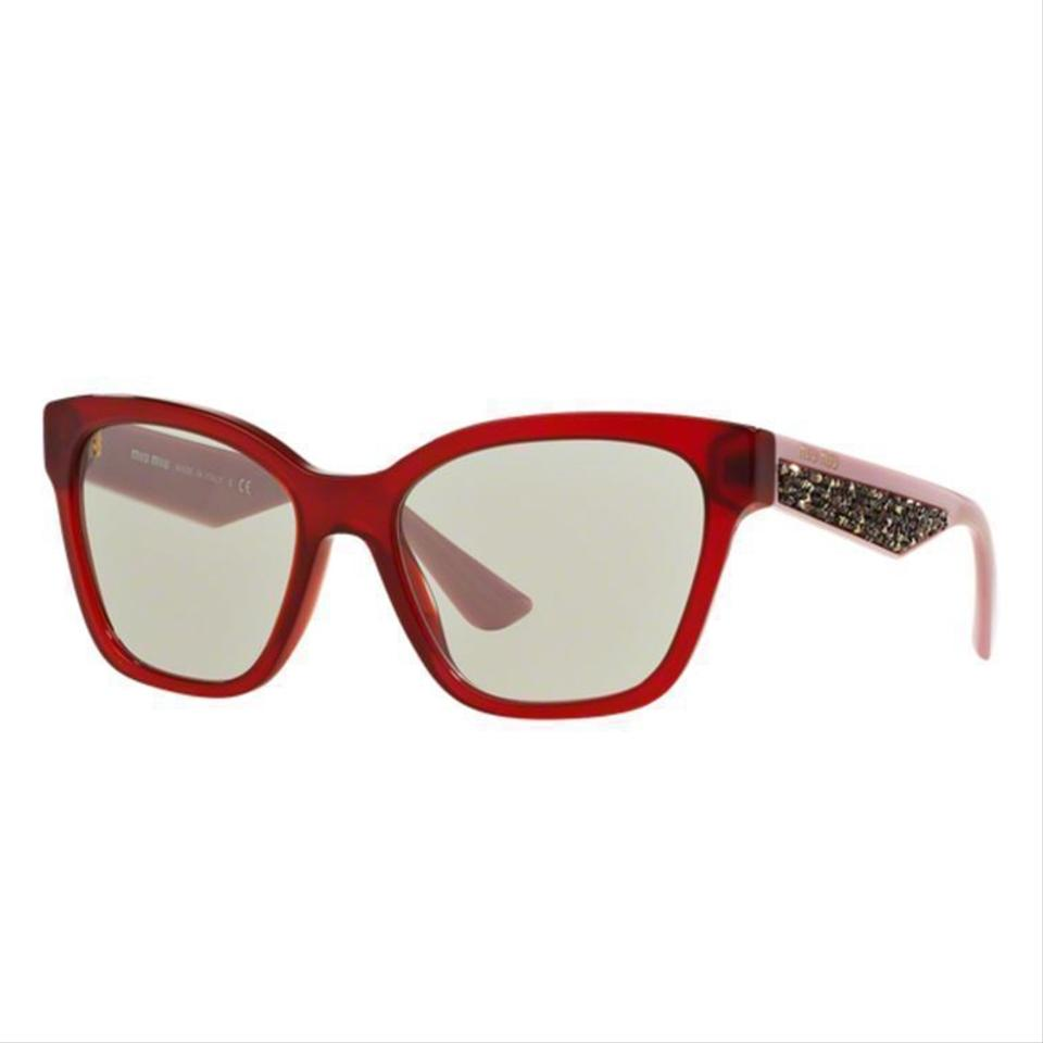 Anti Opal Tkw5j0 Eye Bordeauxamp; Lens Miu 67Off Plastic Reflective Sunglasses Gray Women Cat Retail Mu06rsa drxoCBeW