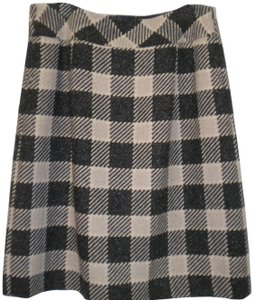 Talbots Plaid Lined Skirt Black/Beige