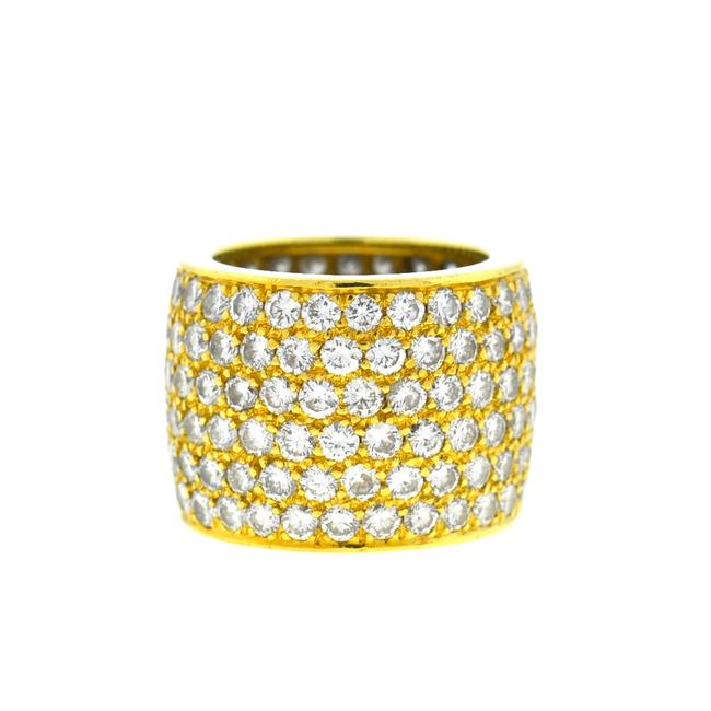 18k Yellow Gold Wide Diamond Six Band Ring 18k Yellow Gold Wide Diamond Six Band Ring Image 1