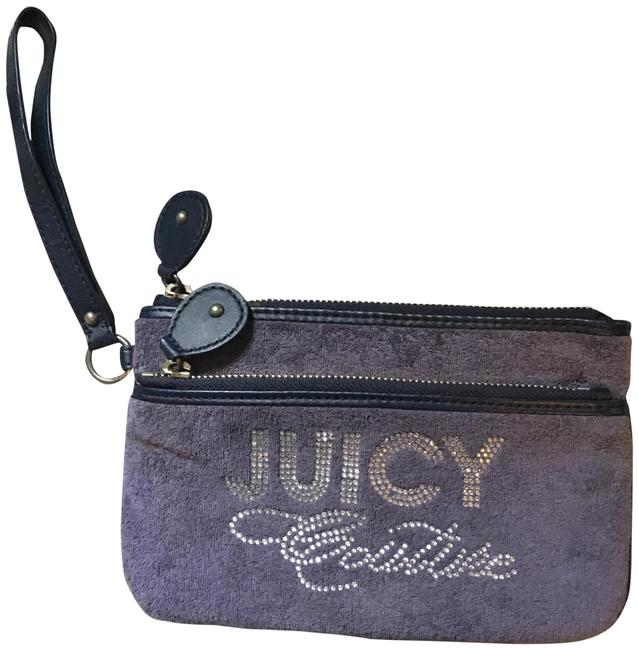 Juicy Couture Rhinestones Muted Purple Terry Cloth Wristlet Juicy Couture Rhinestones Muted Purple Terry Cloth Wristlet Image 1