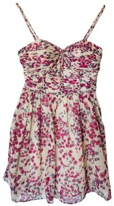 Modcloth Empire Waist Braided Floral Drape Party Dress